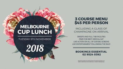 Celebrate Melbourne Cup at Gymea Hotel