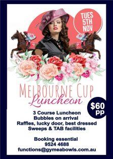 Melbourne Cup Lunch – Gymea Bowls