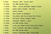 Gymea Fair 2015 Stage Program